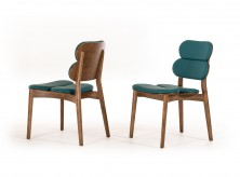 Raeanne Turquoise & Walnut Dining Chair Available Online in Dallas Fort Worth Texas