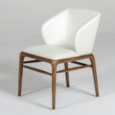 Kipling Cream & Walnut Dining Chair Available Online in Dallas Fort Worth Texas