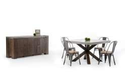VIG Modrest Urban Concrete Square Dining Table Available Online in Dallas Fort Worth Texas
