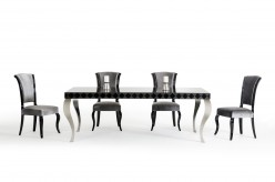 VIG Versus Mia Black Lacquer Dining Table Available Online in Dallas Fort Worth Texas