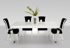 VIG Versus Mia White Lacquer Modern White Dining Table Available Online in Dallas Fort Worth Texas