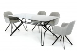 VIG Synergy Smoked Glass Dining Table Available Online in Dallas Fort Worth Texas