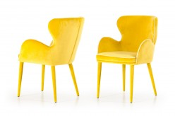 Tigard Yellow Fabric Dining Chair Available Online in Dallas Fort Worth Texas