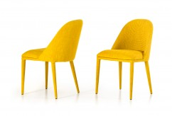 Brooke Yellow Fabric Dining Chair Available Online in Dallas Fort Worth Texas