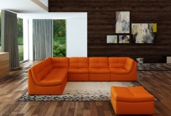 VIG Divani Casa Orange Bonded L... Available Online in Dallas Fort Worth Texas