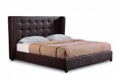 Modrest Hd03 Brown Bonded Leather Bed Available Online in Dallas Fort Worth Texas