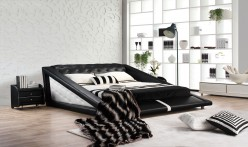 Modrest J231 Black & White Bonded Leather Bed Available Online in Dallas Fort Worth Texas