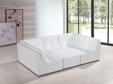 VIG Divani Casa White Bonded Le... Available Online in Dallas Fort Worth Texas