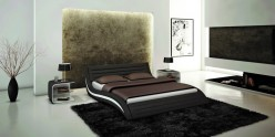 Apollo Black Eco-leather Bed Available Online in Dallas Fort Worth Texas