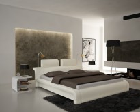 Modrest S611 White Eco-leather Bed Available Online in Dallas Fort Worth Texas