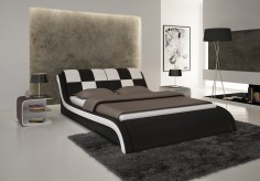 Modrest S613 Black & White Eco-leather Bed Available Online in Dallas Fort Worth Texas