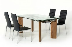 Helena Extendable Glass Dining Table Available Online in Dallas Fort Worth Texas