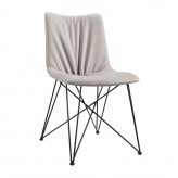 Naomi Grey Leatherette Dining Chair Available Online in Dallas Fort Worth Texas