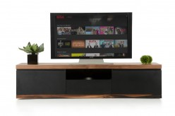 Norse Black & Wood TV Stand Available Online in Dallas Fort Worth Texas