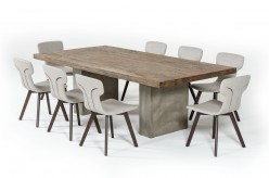 Renzo Oak & Concrete Dining Table Available Online in Dallas Fort Worth Texas