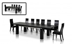 VIG Modrest Maxi Black Oak Dining Table Available Online in Dallas Fort Worth Texas