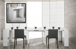 VIG Modrest Morph Ultra Compact Extendable White Dining Table Available Online in Dallas Fort Worth Texas