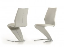 Penn Light Grey Leatherette Dining Chair Available Online in Dallas Fort Worth Texas