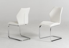 Welles White Leatherette Dining Chair Available Online in Dallas Fort Worth Texas
