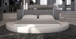 Rotondo Eco-leather Bed With Led Light Available Online in Dallas Fort Worth Texas