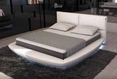 Sferico Eco-leather Bed With Led Light Available Online in Dallas Fort Worth Texas