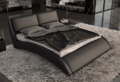 Volo Eco-leather Bed With Curves Available Online in Dallas Fort Worth Texas