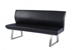 Magnus Black High Back Dining Bench Available Online in Dallas Fort Worth Texas