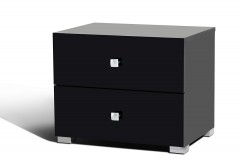 Lyrica Black Nightstand Available Online in Dallas Fort Worth Texas