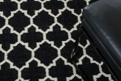 Linie Design Adelyn Black Wool Rug Available Online in Dallas Fort Worth Texas