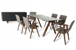 Maddox & Weylyn 7pc Walnut Dining Set Available Online in Dallas Fort Worth Texas