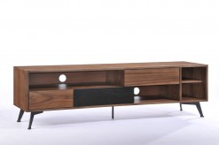 VIG Garrison Walnut & Black TV ... Available Online in Dallas Fort Worth Texas