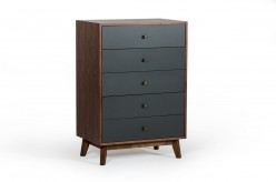 Nova Domus Dali Grey & Walnut Chest Available Online in Dallas Fort Worth Texas