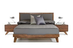 Nova Domus Soria Grey & Walnut Bed Available Online in Dallas Fort Worth Texas