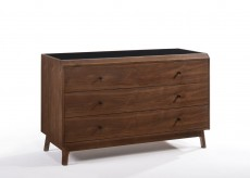 Gibson Walnut & Black Glass Dresser Available Online in Dallas Fort Worth Texas