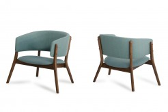 VIG Dante Blue Fabric & Walnut ... Available Online in Dallas Fort Worth Texas