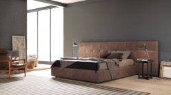 Estro Salotti Gradisca Brown Leather Bed Available Online in Dallas Fort Worth Texas