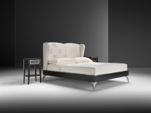 Estro Salotti Icaro White Fabric Bed Available Online in Dallas Fort Worth Texas