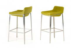 Adhil Green Fabric Bar Stool Available Online in Dallas Fort Worth Texas