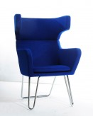 VIG Anser Blue Fabric Lounge Ch... Available Online in Dallas Fort Worth Texas