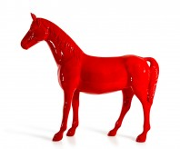 Red Full Size Horse Sculpture Available Online in Dallas Fort Worth Texas