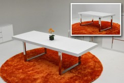 VIG A&X Skyline White Gloss Extendable Dining Table Available Online in Dallas Fort Worth Texas