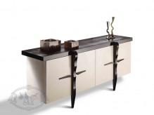 VIG A&X Buonarotti Glossy Champagne Crocodile Lacquer Buffet Available Online in Dallas Fort Worth Texas