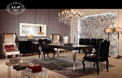 VIG A&X Ampir Black Crocodile Dining Table Available Online in Dallas Fort Worth Texas