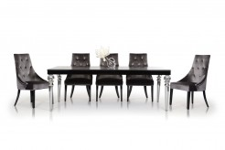 VIG A&X Baccarat Black Crocodile Lacquer Dining Table Available Online in Dallas Fort Worth Texas