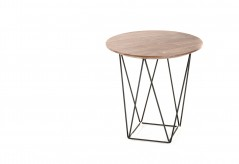 VIG Spoke Walnut End Table Available Online in Dallas Fort Worth Texas