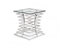 VIG Snyder Square Glass End Table Available Online in Dallas Fort Worth Texas