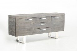 VIG Lola Grey Brush Buffet Available Online in Dallas Fort Worth Texas