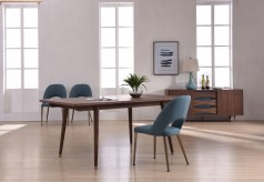 Gloria Walnut Dining Table Available Online in Dallas Fort Worth Texas