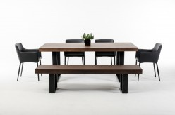 VIG Modrest Lola Walnut Dining Table Available Online in Dallas Fort Worth Texas