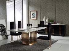 VIG Kingsley Marble & Rosegold Dining Table Available Online in Dallas Fort Worth Texas